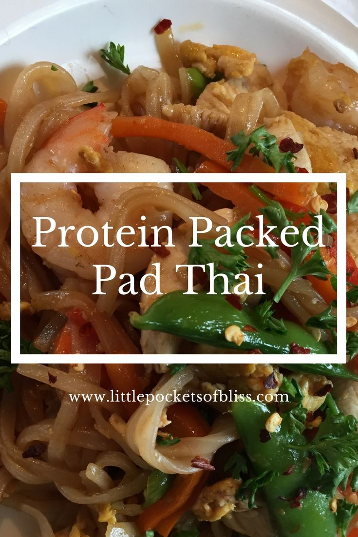 A protein packed Pad Thai recipe, loaded with veggies and an easy to make sauce!