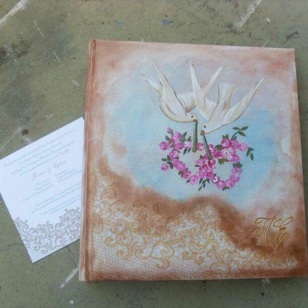 "According to ""wedding invitation"",  hand painted album..."