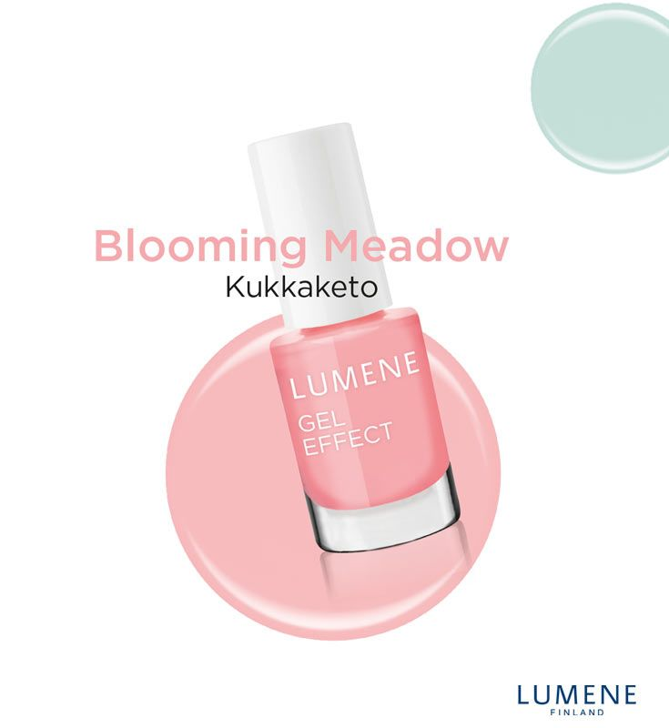 New Lumene Gel Effect Nail Polish shade 16 Blooming Meadow #Lumene #nailpolish