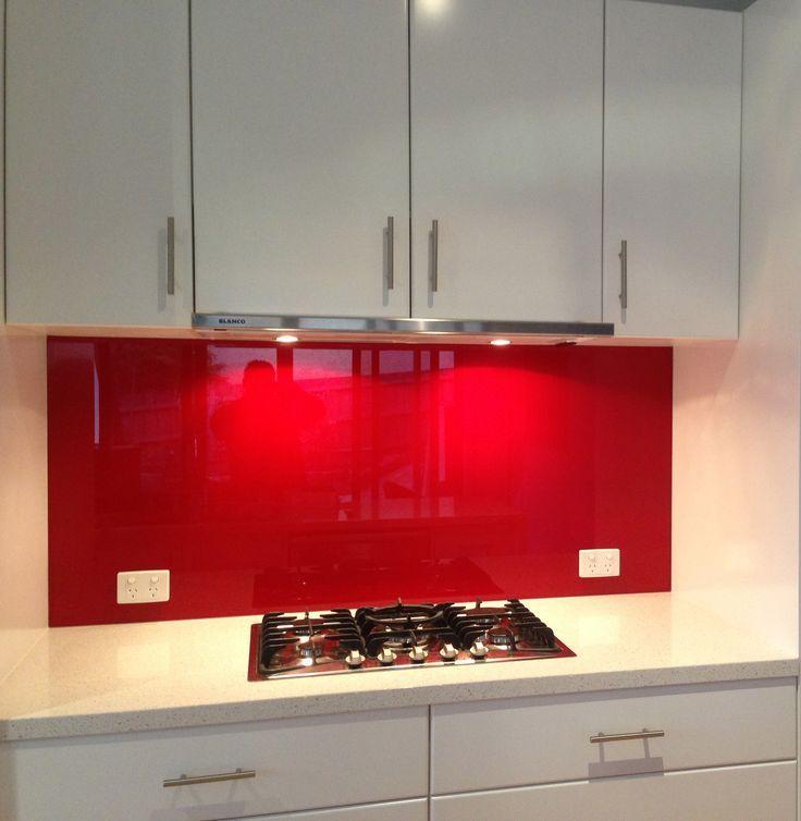 We LOVE red coloured glass at Ultimate Glass Splashbacks