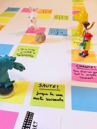 fabriquer un jeu de l'oie géant avec des Post-it