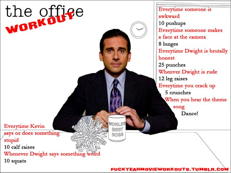 The Office Workout!  Want to see more workouts like this one? Follow us here.