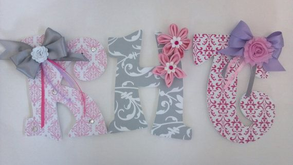 Embellished Decorative Wall Letters - Nursery Letters - Childrens ...