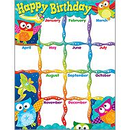 Back To School 2012 | Owl-Stars! | Happy Birthday! Learning Chart | Parent-Teacher Store USA