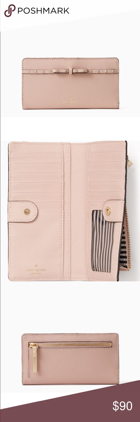 Kate Spade Elliott Street Stacy Wallet New with tags, light pink, send me offers (: kate spade Bags Wallets