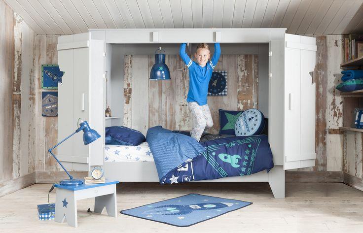 Bedstee Tom van lief! lifestyle: een superstoer bed voor jongens. Een fijne plek om te slapen én te spelen!