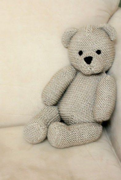 Teddy Bear by Debbie Bliss Free Knitting Pattern   Favorite Bear Knitting Patterns including Teddy Bears, Paddington Bear, Koala Bear - many free patterns
