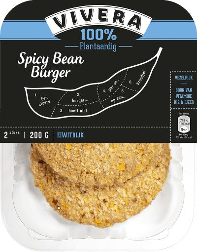 Vivera Spicy Bean Burger #vegan