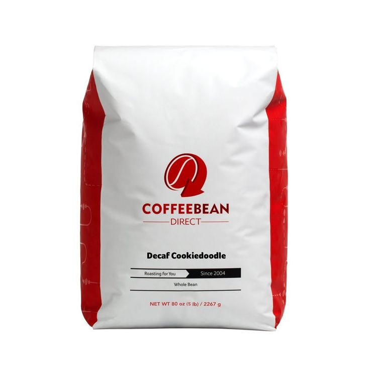 Coffee Bean Direct Decaf Cookiedoodle Flavored, Whole Bean Coffee, 5-Pound Bag -- For more information, visit : Fresh Groceries