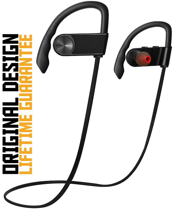 Ergonomically Bluetooth Earphones, Gohitop Sports Headphones Wireless Running with Ear Hook Noise-Cancelling Sweatproof for Gym Exercise (Black). ERGONOMIC DESIGN -- 3 different sizes of ultra-comfortable earbuds design and unique design ensure that earphones always stay in place no matter your level of activity. ERGONOMICALLY & SECURE -- Gohitop Bluetooth Sports Earphones, The over-ear hooks can hold the earbuds firmly onto your ears for secure, stable and comfortable fit. No worrying…