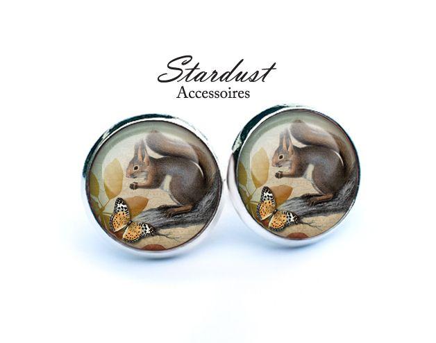 Ohrstecker silber ✿ Eichhörnchen ✿ von Stardust Accessoires auf DaWanda.com