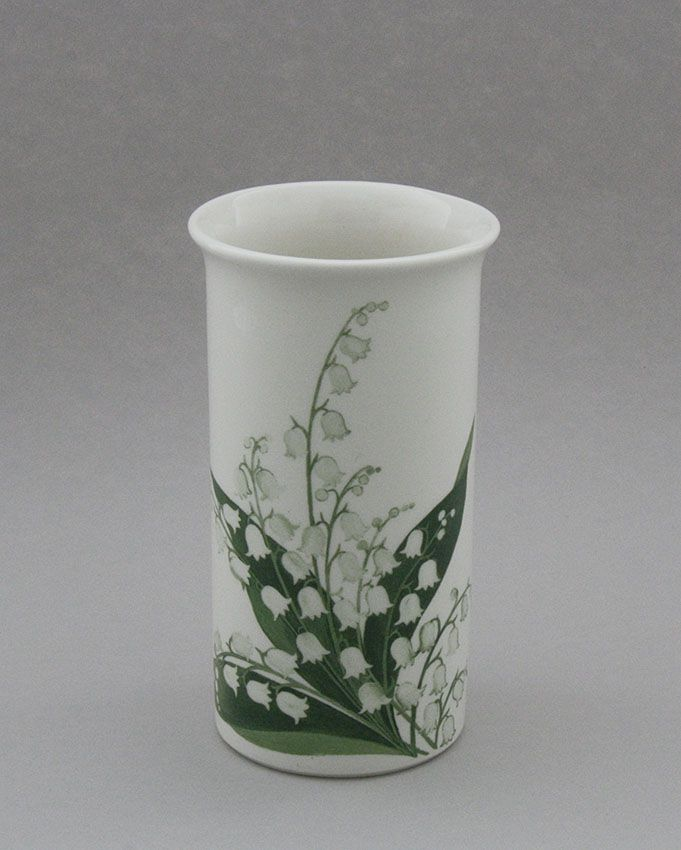 Arabia flower vase, Lily of the Valley. Design, Esteri Tomula