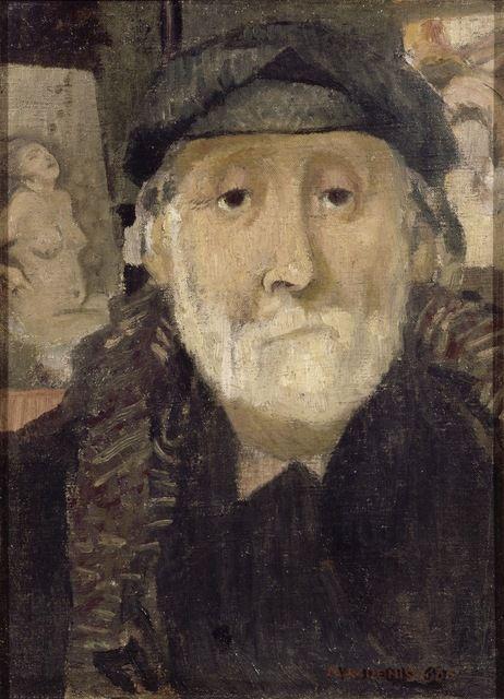 Maurice Denis (French, 187-1943) : Portrait of the Painter Degas, 1906. Musée de art Moderne  de Troyes, France.