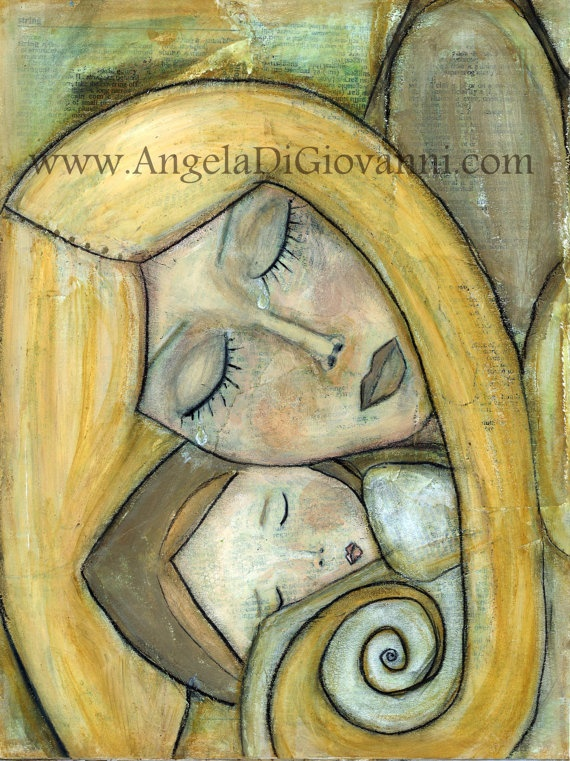 Mixed Media Print of the Original Painting by Angela DiGiovanni, $22.00