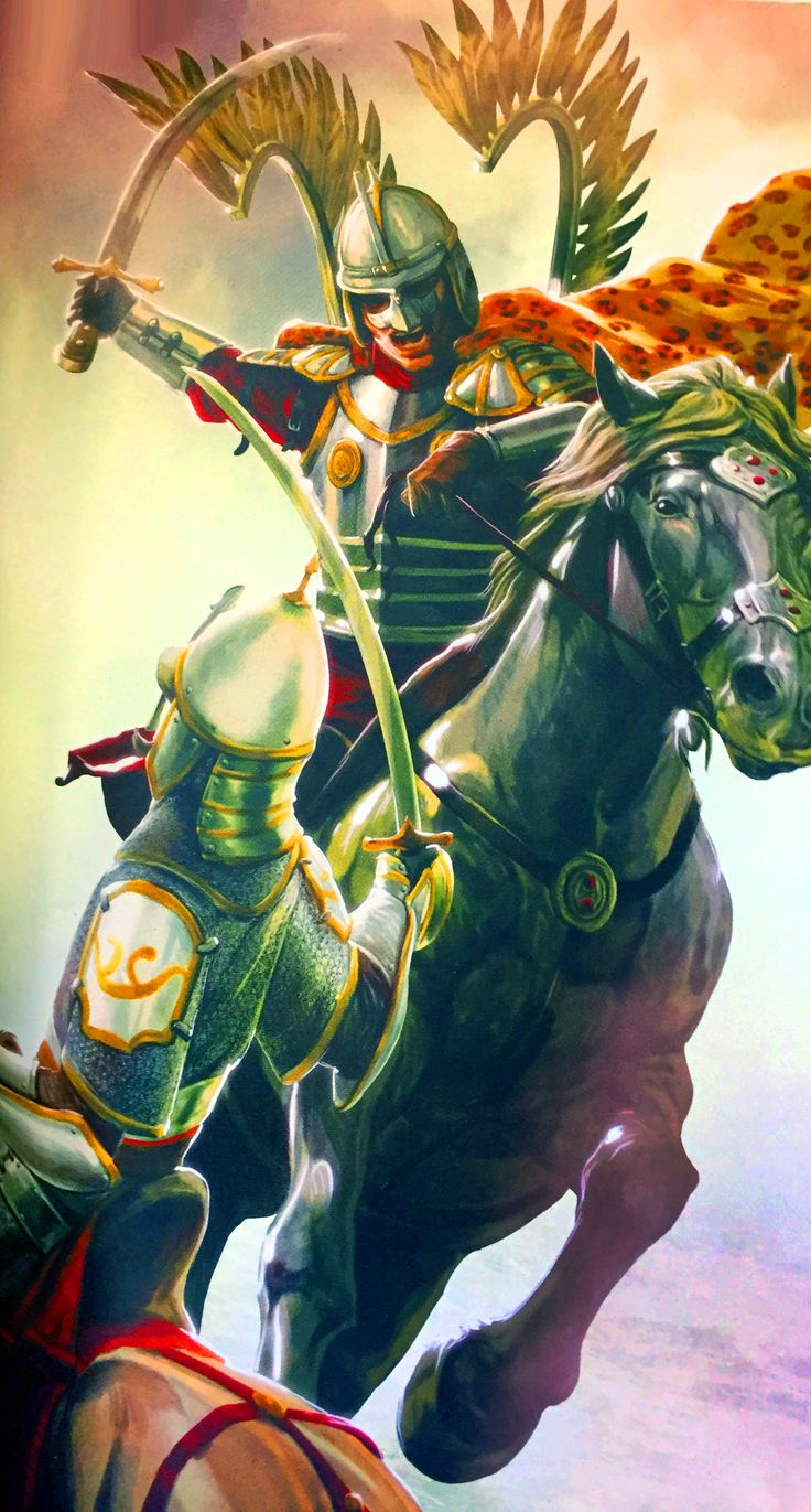 Polish Winged Hussar battling against an Ottoman Sipahi horseman