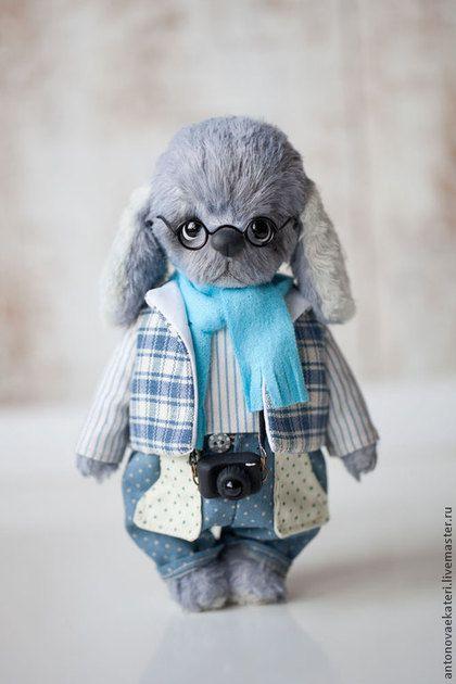 Мишки Тедди ручной работы. Ярмарка Мастеров - ручная работа Голубой щенок. Handmade.