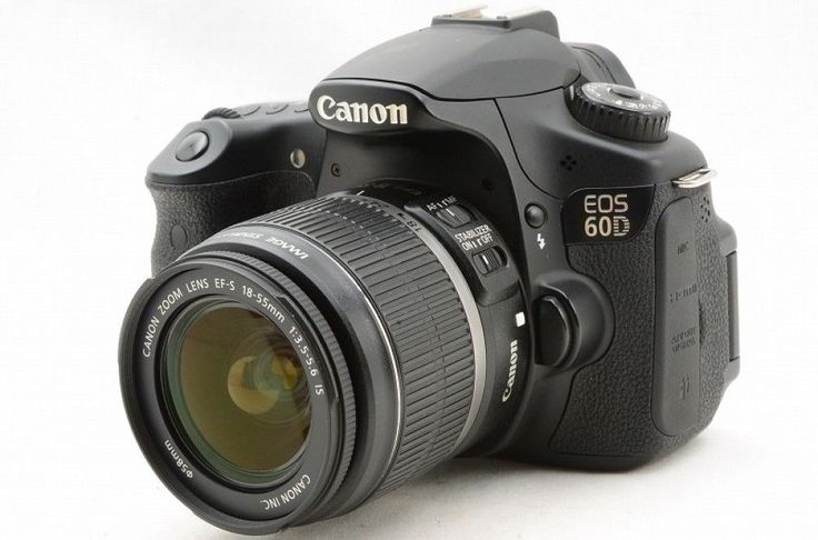 #14590 Canon camera EOS 60D DOUBLE LENSES SET Excellent++ Japan Import F/S GIFT #Canon