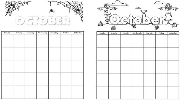 check out our printable calendars for the month of october holidays super teacher. Black Bedroom Furniture Sets. Home Design Ideas