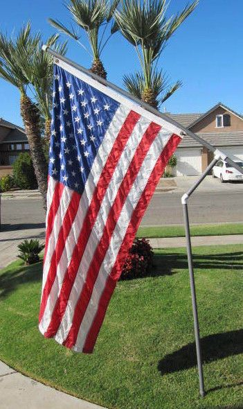 Used Rv Prices >> Rotating PVC Flag Pole Spinning Heavy Duty 3/4 Gray RV Tailgate Outdoor Flagpole…   Pvc flag ...