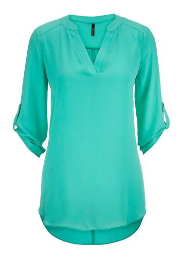 chiffon v-neck tunic top (original price, $32) available at #Maurices