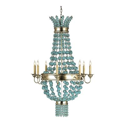 34 best coastal chandeliers images on pinterest beach houses serena aqua glass chandelier mozeypictures Images