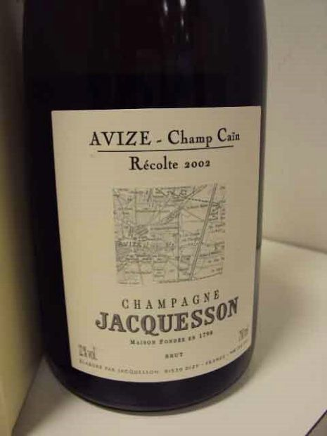 2004 Jacquesson & Fils Champagne Brut Avize Grand Cru Champ Caïn Dark greenish, slightly brown yellow with dainty bubbles…this is a wine, folks! Powerful aromas of yeasty toast and brioche with excellent acidity and sufficient fruit at the moment. Smooth as silk on the palate after 1+ hours breathing in the bottle. Long, lingering, slightly tangy finish. She is the Sophomore in High School you plan to date as you count the days starting your Freshman year in University (Masters degrees…