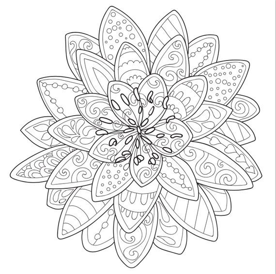 3 Printable Coloring Pages Zentangle Coloring Book Etsy Mandala Coloring Pages Coloring Pages Free Coloring Pages