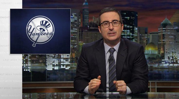 New York Yankees on LAST WEEK TONIGHT WITH JOHN OLIVER (EPISODE 66) @yankeesbaseball