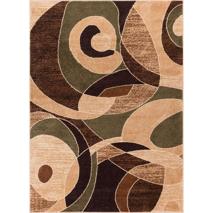 Well Woven Sydney Zen Abstract Mid-Century Green 3 Ft. X 5