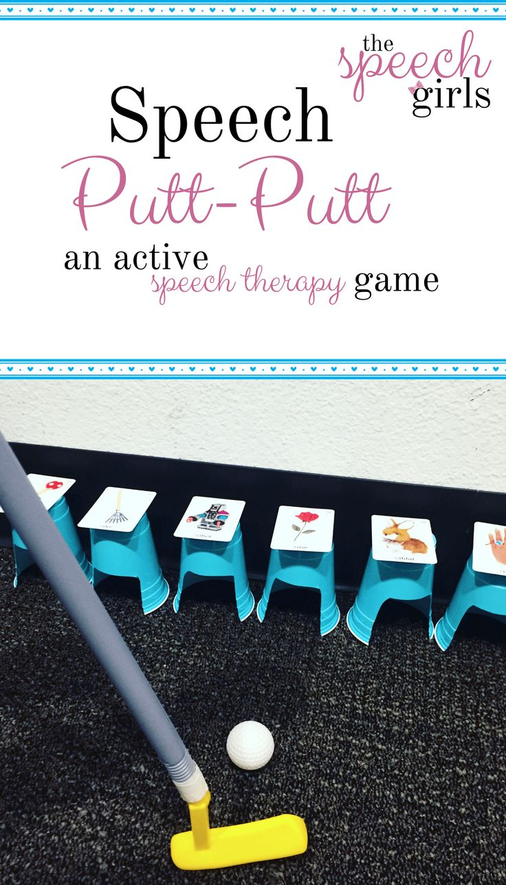 Speech Putt-Putt | an active speech therapy game
