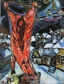 Flayed ox - Marc Chagall 1947