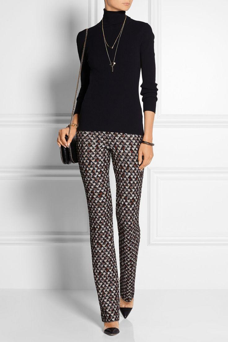 Missoni | Patterned crochet-knit straight-leg pants | NET-A-PORTER.COM