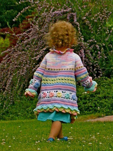 Little girl's colorful summer coat by Svetlana M.