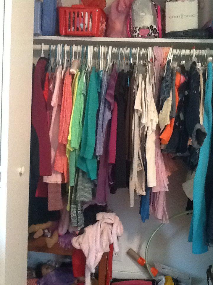 Color coordinated closet I'm so proud of myself!