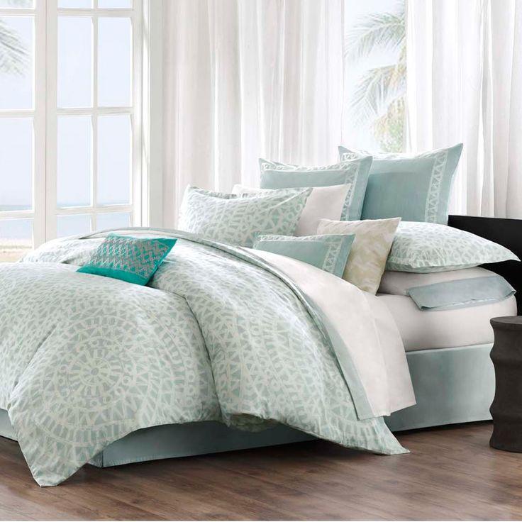 Echo Mykonos 300 Thread Count Cotton 3-piece Queen Size Comforter Set