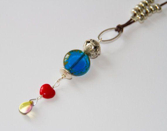Drop necklaceethnic pendantbeaded necklacetear by Deliciousbits, £12.54