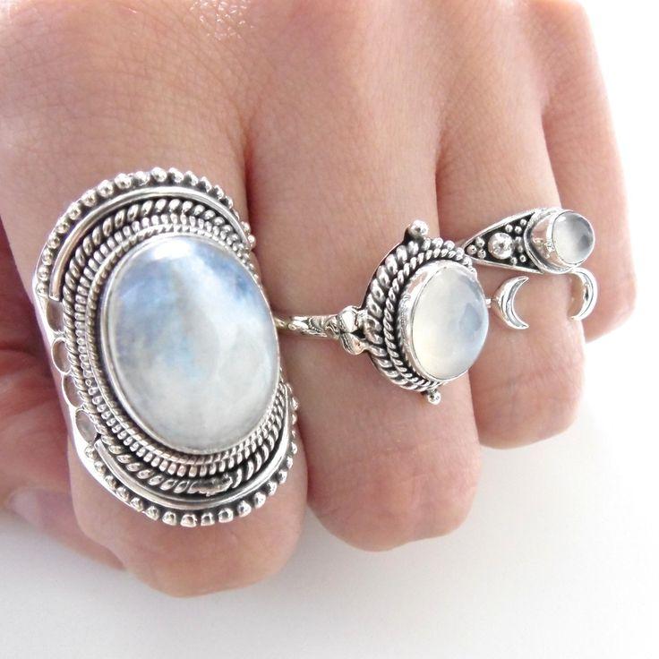 Empty Casket Jewellery — Sterling Silver Majestic Moonstone Ring