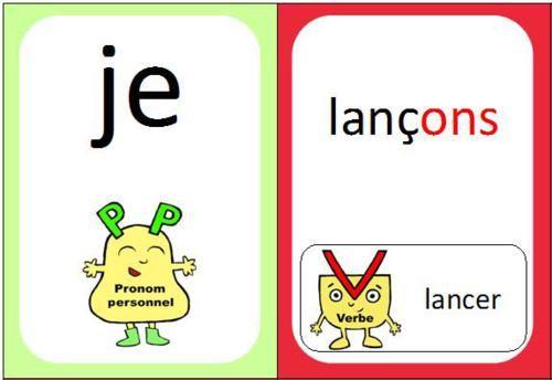jeu de cartes présent des verbes en er