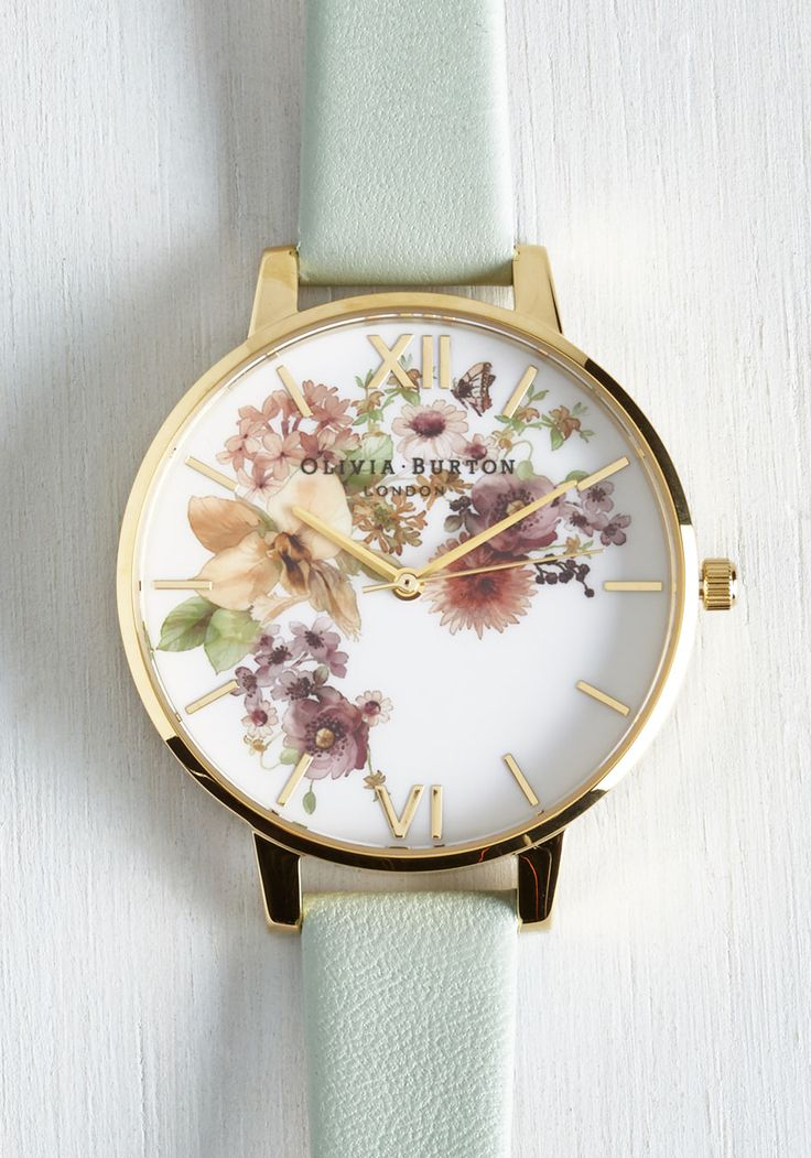 Time of the Season Watch in Mint. No matter the weather, you enjoy a lovely look accessorized with this charming Olivia Burton watch! #mint #modcloth