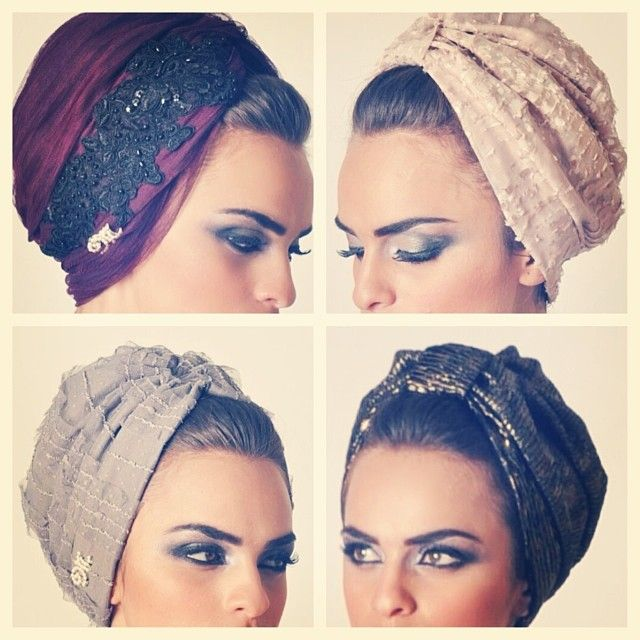 turbans! They look pretty, but I don't think I could ever pull off a turban.