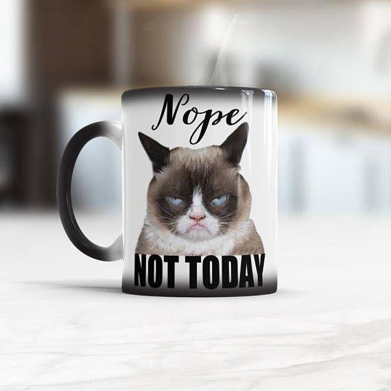 Nope Not Today Funny Coffee Mug Grumpy Cat Mug #cats #grumpyCat #funnyMug  (scheduled via http://www.tailwindapp.com?utm_source=pinterest&utm_medium=twpin)