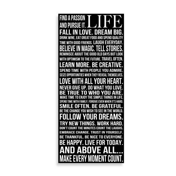 This is Your Life Wall Art - Bed Bath & Beyond 16 X 36 40