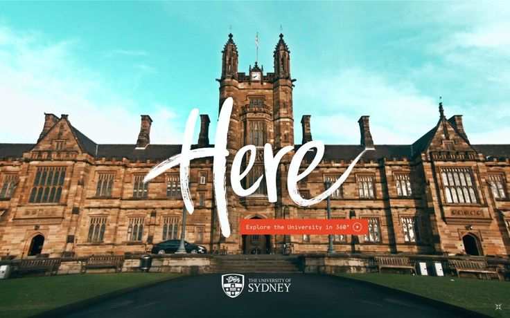 """University of Sydney """"Here"""" Experience life on campus with the new interactive 360° film."""