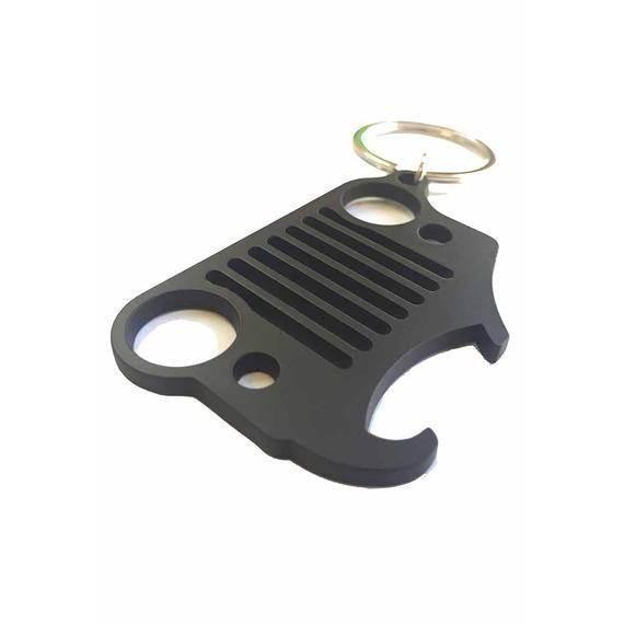 Jeep Gold Teardrop Jeep/® Grille Logo Keychain Red