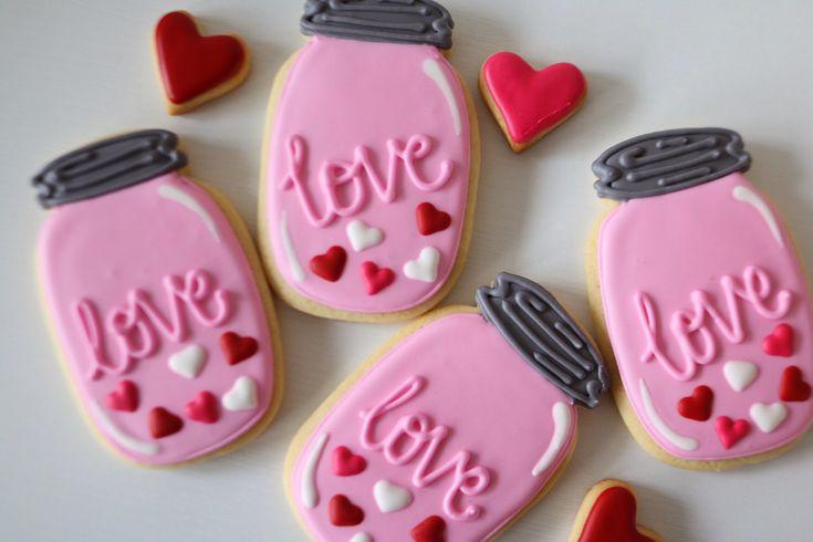 Love in a Jar Flooded Cookies by PrepandBake on Etsy https://www.etsy.com/listing/494551222/love-in-a-jar-flooded-cookies