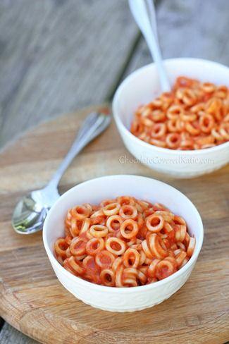 Homemade Spaghetti Os - better than the original!