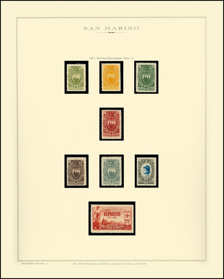 https://flic.kr/p/YpNQRn | MiNr. 0091-97 Michel-Katalog  20.IX.1923. Freimarken San Marino Serie Italienisches Rotes Kreuz Wz.1; gez. 14 5874 M | MiNr. 0091-97 Michel-Katalog  20.IX.1923. Freimarken San Marino Serie Italienisches Rotes Kreuz Wz.1; gez. 14 5874 M