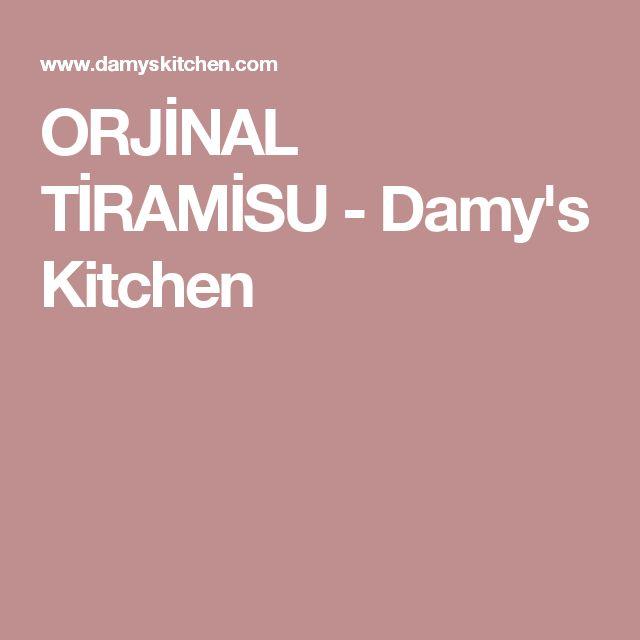 ORJİNAL TİRAMİSU - Damy's Kitchen