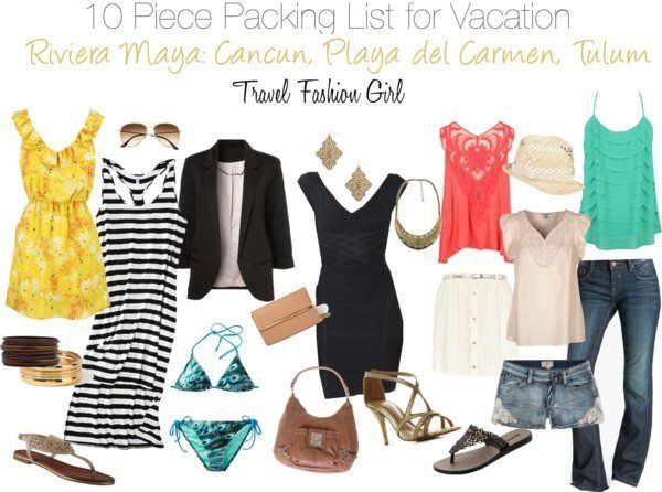 Travel Fashion Girl: 10 Piece Packing List for Vacation in the Yucatan