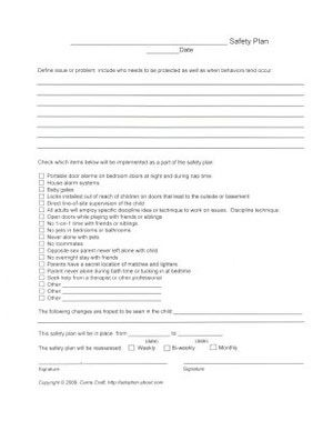 Safety Plan Worksheet - Carrie Craft